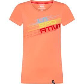 La Sportiva Stripe Evo T-Shirt Dames, oranje